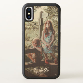 Name in Script & Custom Photo iPhone X Case