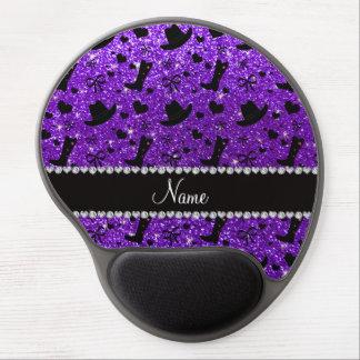 Name indigo purple glitter cowboy boots hats gel mouse pad