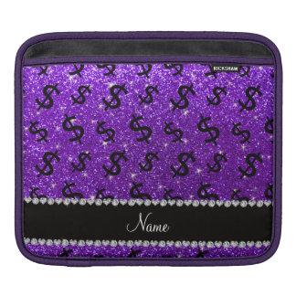 Name indigo purple glitter dollar signs sleeves for iPads