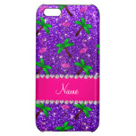 Name indigo purple glitter flamingos palm trees iPhone 5C cases