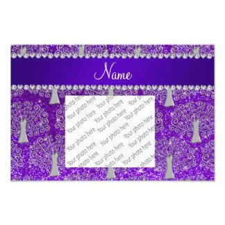 Name indigo purple glitter silver tree of life photo