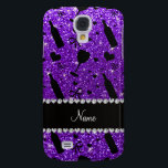 "name indigo purple glitter wine glass bottle samsung s4 case<br><div class=""desc"">Modern, stylish, chic and trendy winge glass, wine bottle, hearts and pretty bows in indigo purple glitter (FAUX NOT REAL GLITTER) pattern and beautiful black diamonds (not real diamonds) with hearts and dots stripe personalized with your name gifts or monogram gifts or your initials. Girly wine gift ideas. If you...</div>"