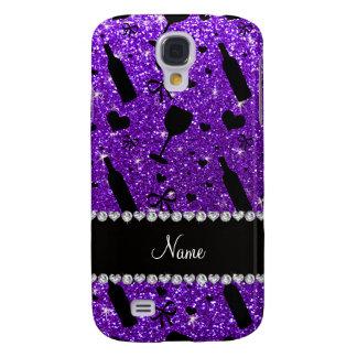 name indigo purple glitter wine glass bottle samsung s4 case