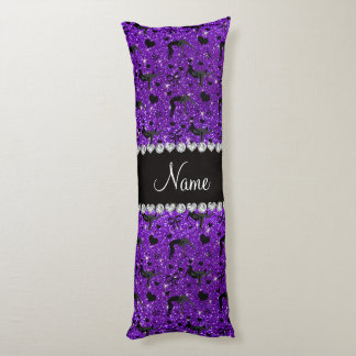 Name indigo purple glitter wrestling hearts bows body pillow