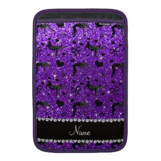 Name indigo purple glitter wrestling hearts bows MacBook sleeve