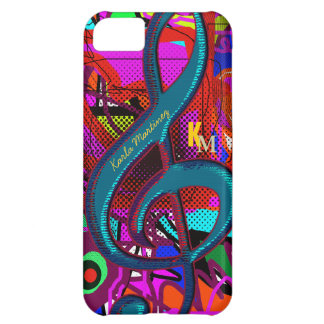 name initials clave musical note cover for iPhone 5C