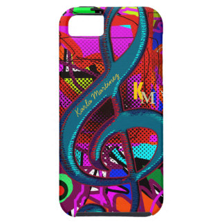name initials clave musical note iPhone SE/5/5s case
