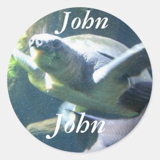 name is  John Classic Round Sticker