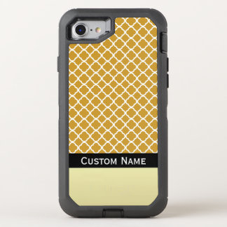 Name It Mustard Yellow Quatrefoil Moroccan Pattern OtterBox Defender iPhone 7 Case
