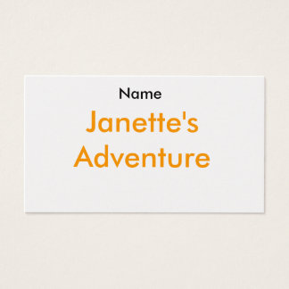 Name, Janette's Adventure Business Card