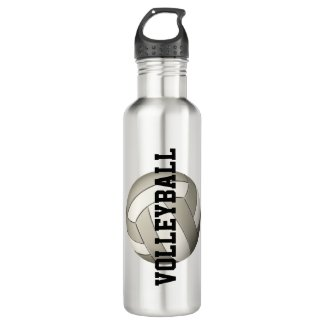 custom girls volleyball stainless steel water bottle with player name & jersey number
