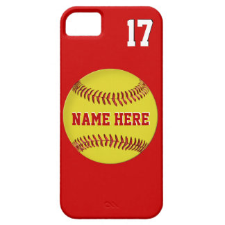 Name, Jersey Number  Softball iPhone 5S Cases, 5 iPhone SE/5/5s Case