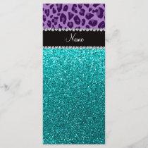 Name light purple leopard turquoise glitter