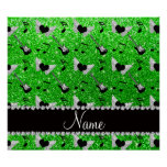 Name lime green glitter guitars heart wings music poster