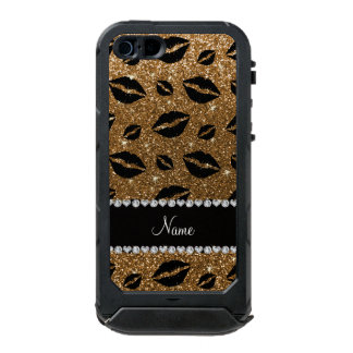 Name lipstick kisses gold glitter incipio ATLAS ID™ iPhone 5 case
