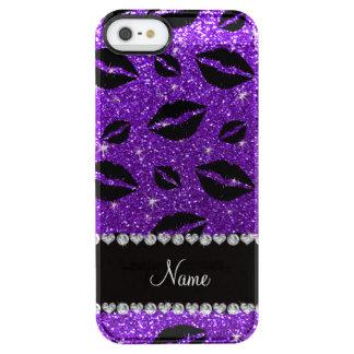 Name lipstick kisses indigo purple glitter uncommon clearly™ deflector iPhone 5 case