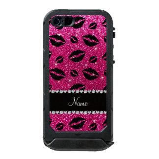Name lipstick kisses neon hot pink glitter incipio ATLAS ID™ iPhone 5 case