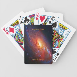 Name, M106 Spiral Galaxy, Canes Venatici Bicycle Playing Cards