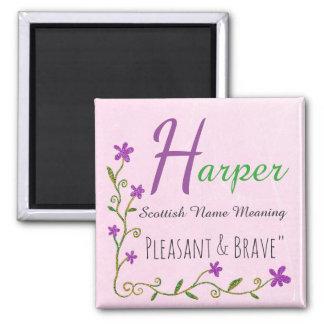 Name Magnet: Harper, Pleasant & Brave Magnet