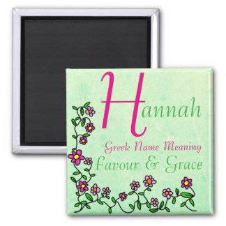 Name Magnet Meaning, Hannah, Favour & Grace