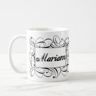 Name Mariam in black inside stylish frame Coffee Mug