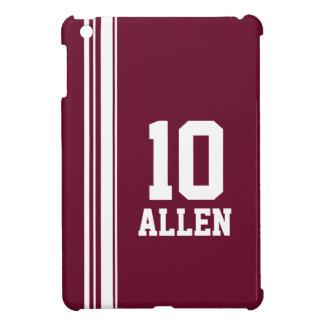 Name maroon & white sport name & number ipad mini iPad mini cover