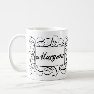 Name Maryam in black inside stylish frame Coffee Mug