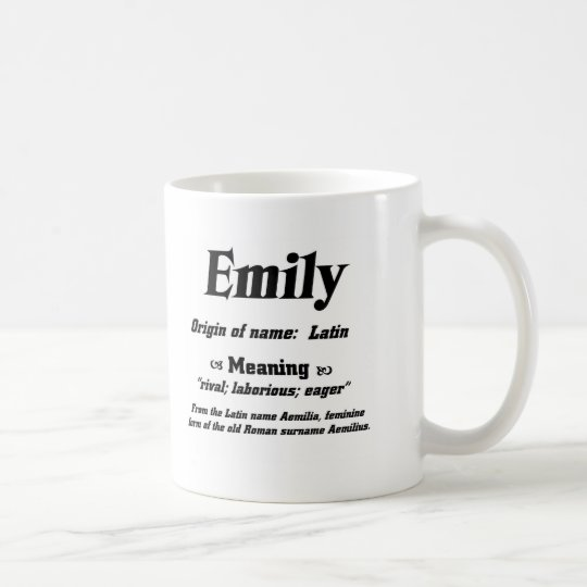 Name Meaning Emily Coffee Mug