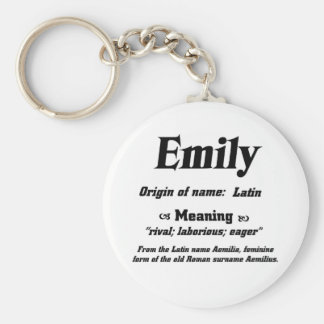 Name Meaning 'Emily' Keychain