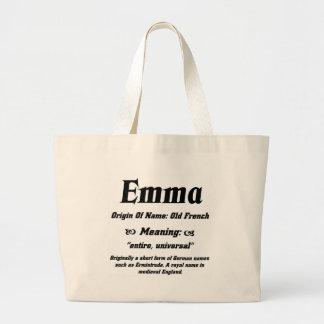 Name Meaning 'Emma' Jumbo Tote Bag