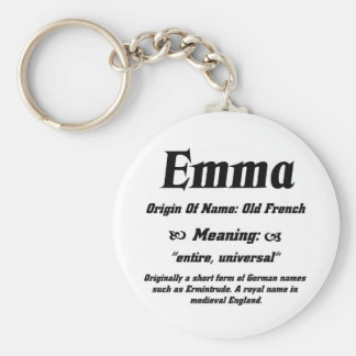 Name Meaning 'Emma' Keychain