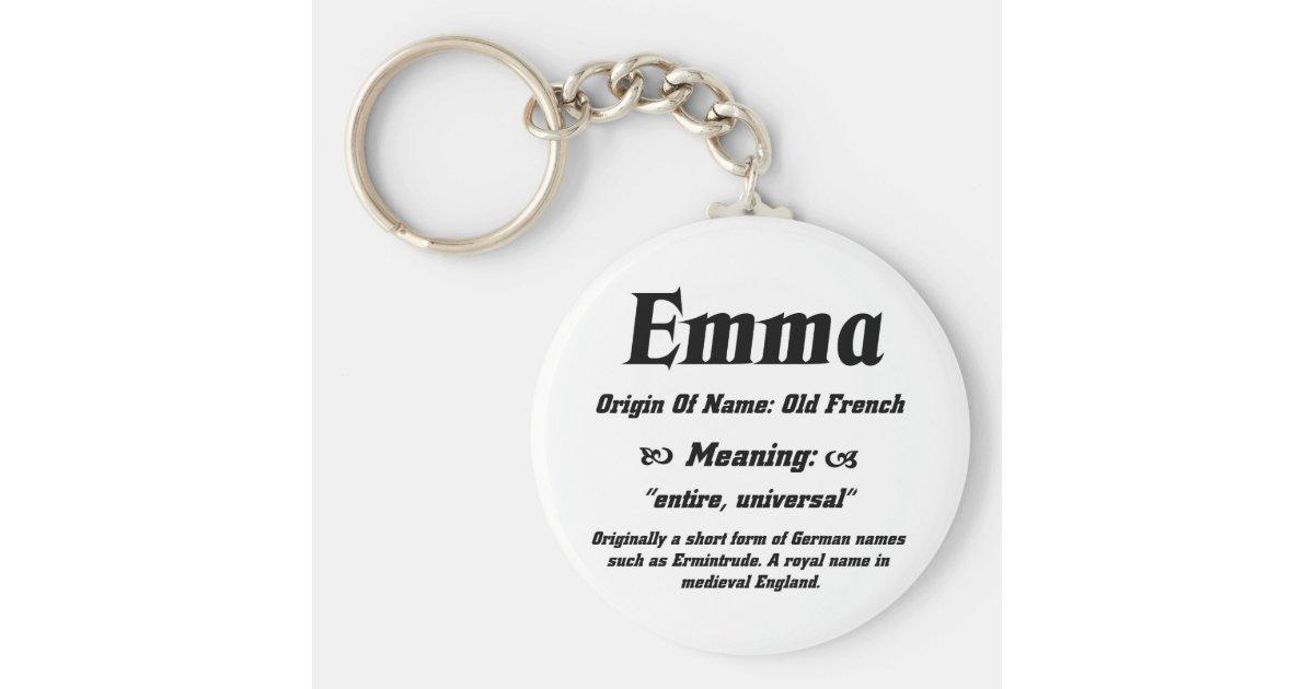 Name Meaning 'Emma' Keychain   Zazzle.com