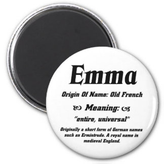 Name Meaning 'Emma' Magnet