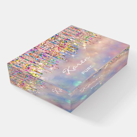 NAME MEANING Holograph Place Sign Sweet16 Paperweight