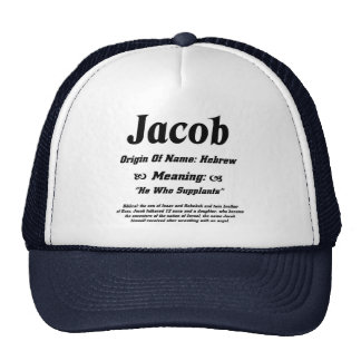 Name Meaning 'Jacob' Hats