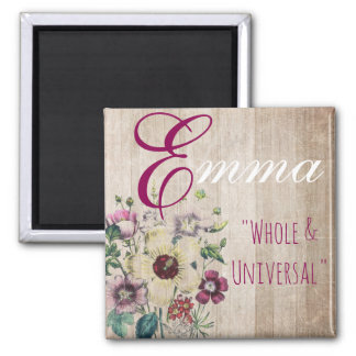 """Name Meaning Magnet, Emma """"Whole & Universal"""" Magnet"""
