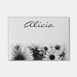 Name/Monogram Daisy Notes Post-it® Notes