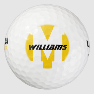 name monogram golf_balls for a stylish golfplayer golf balls