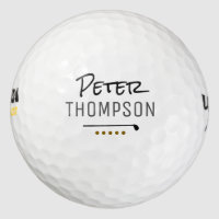 name monogram golf_balls for stylish golfplayers golf balls