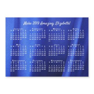 Name Motivation Abstract Blue Photo 2019 Calendar