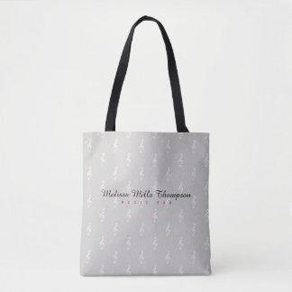 name music tote bag