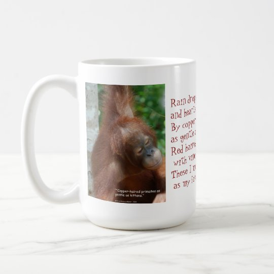 Name My Favorite Things Orangutan Animal Lover Coffee Mug