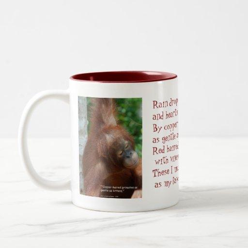 Name My Favorite Things Orangutan Animal Lover Mug