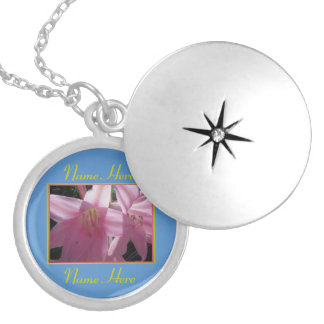 Name Necklace - Pink Lilies