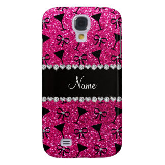 name neon hot pink glitter cocktail glass bow samsung galaxy s4 case