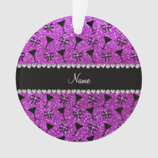 name neon purple glitter cocktail glass bow