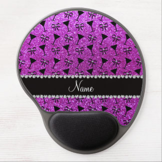 name neon purple glitter cocktail glass bow gel mouse pad