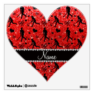 Name neon red glitter field hockey hearts bows room graphics