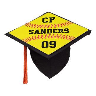 Name, Number and Position Custom Softball Seniors Graduation Cap Topper