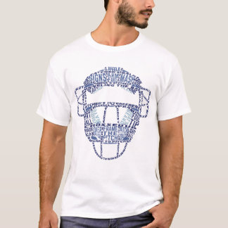 Name & Number Back Print Baseball Catcher T Shirt